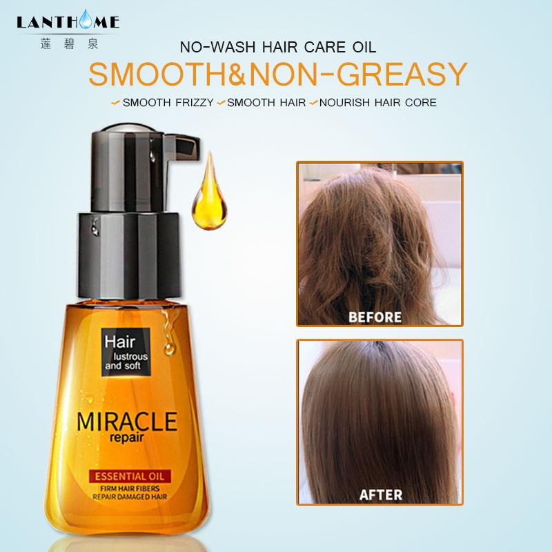 [해외]Laikou 70 ml Marruecos aceite de argan puro aceite esencial tratamiento para danado seco hidratante cabello suave brillante reparacion dividir pel