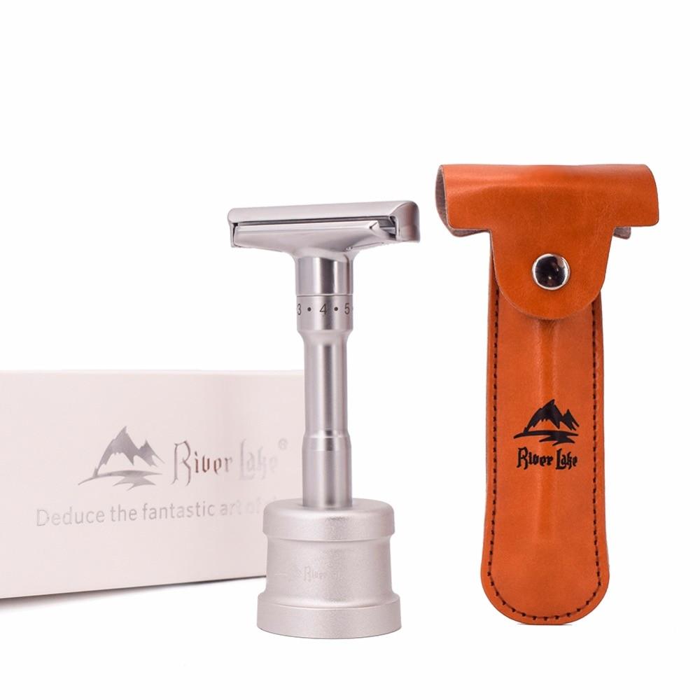 [해외]Adjustable Safety Razor Mens Shaving Double Edge Classic Safety Razor Blade Exposure Six Levels 1 handle & 10 blades/Adjustable Safety R
