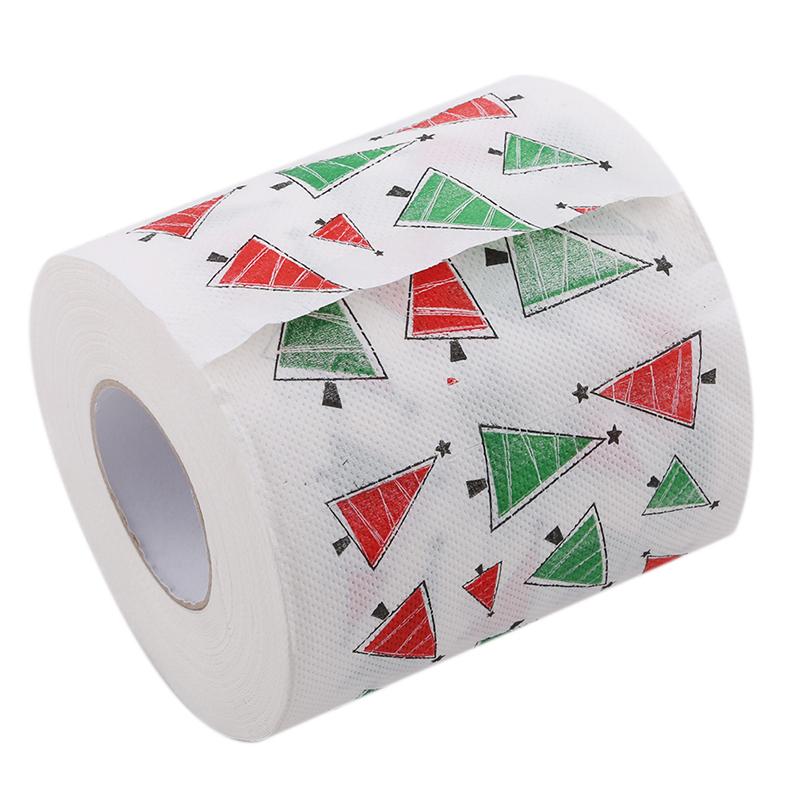 [해외]1 롤 산타 메리 크리스마스 용품 Chirstmas 트리 패턴 화장지 홈 목욕 거실 화장지 조직 크리스마스 장식/1 롤 산타 메리 크리스마스 용품 Chirstmas 트리 패턴 화장지 홈 목욕 거실 화장지 조직 크리스마스 장식