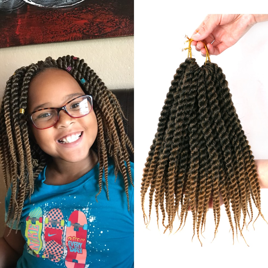 [해외]DAIRESS 12 12Stands Senegalese Twist Hair Crochet Braids Senegalese Twist Crochet Hair Synthetic Braiding Hair Extensions/DAIRESS 12 12S