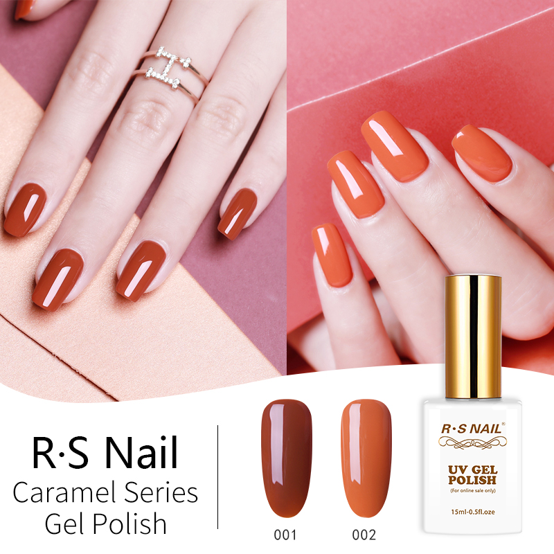 [해외]RS Nail 15ml a set of gel nail polish uv led nail gel varnish caramel color series gel lacquer vernis semi permanant/RS Nail 15ml a set of gel nai