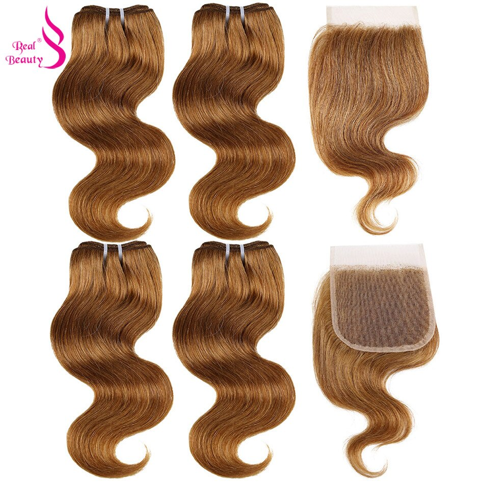 Real Beauty Brazilian 99J Hair Red Burgundy Bundles With Closure Colorful Body Wave Remy Human Hair Bundles With Lac Closure 27